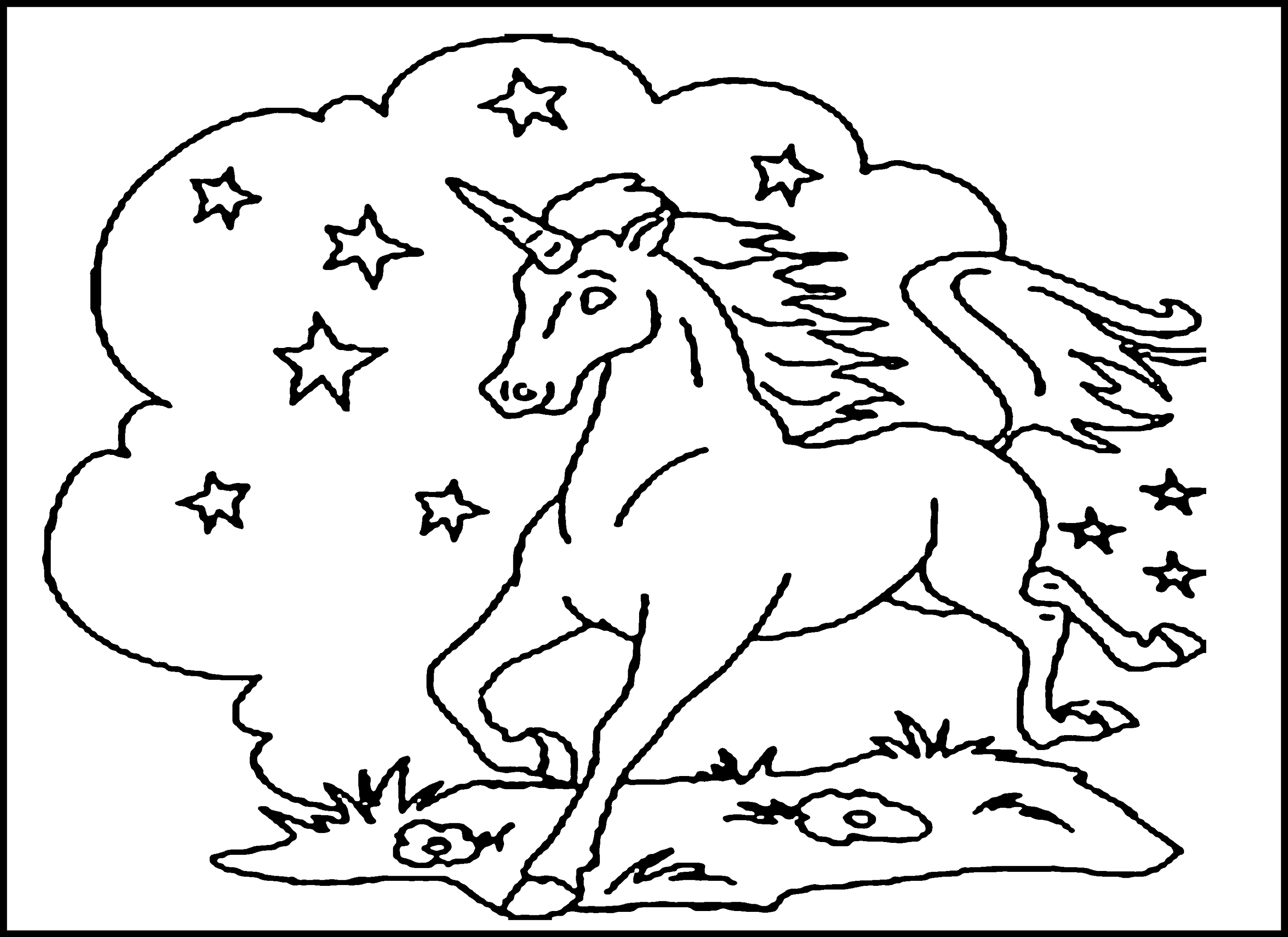 coloring pages printable unicorn