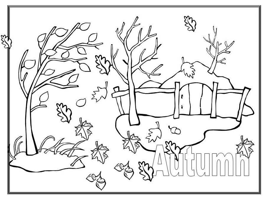 fall coloring pages autumn