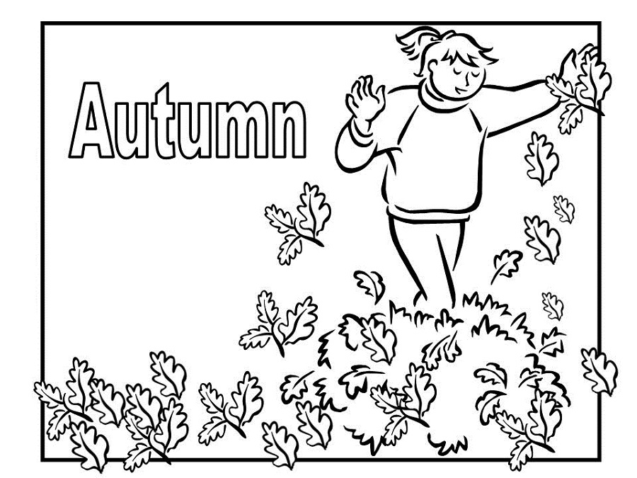 Autumn Leaves Coloring Pages Free