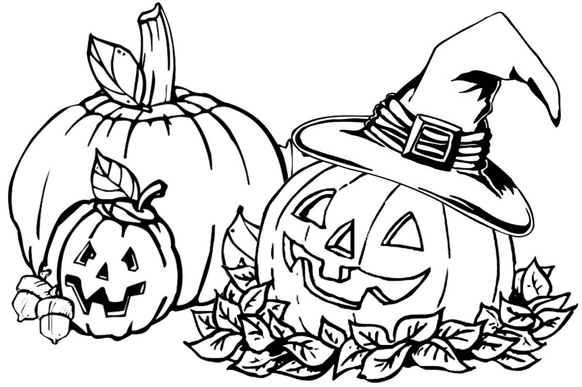 pumpkin patch coloring pages free - photo#31
