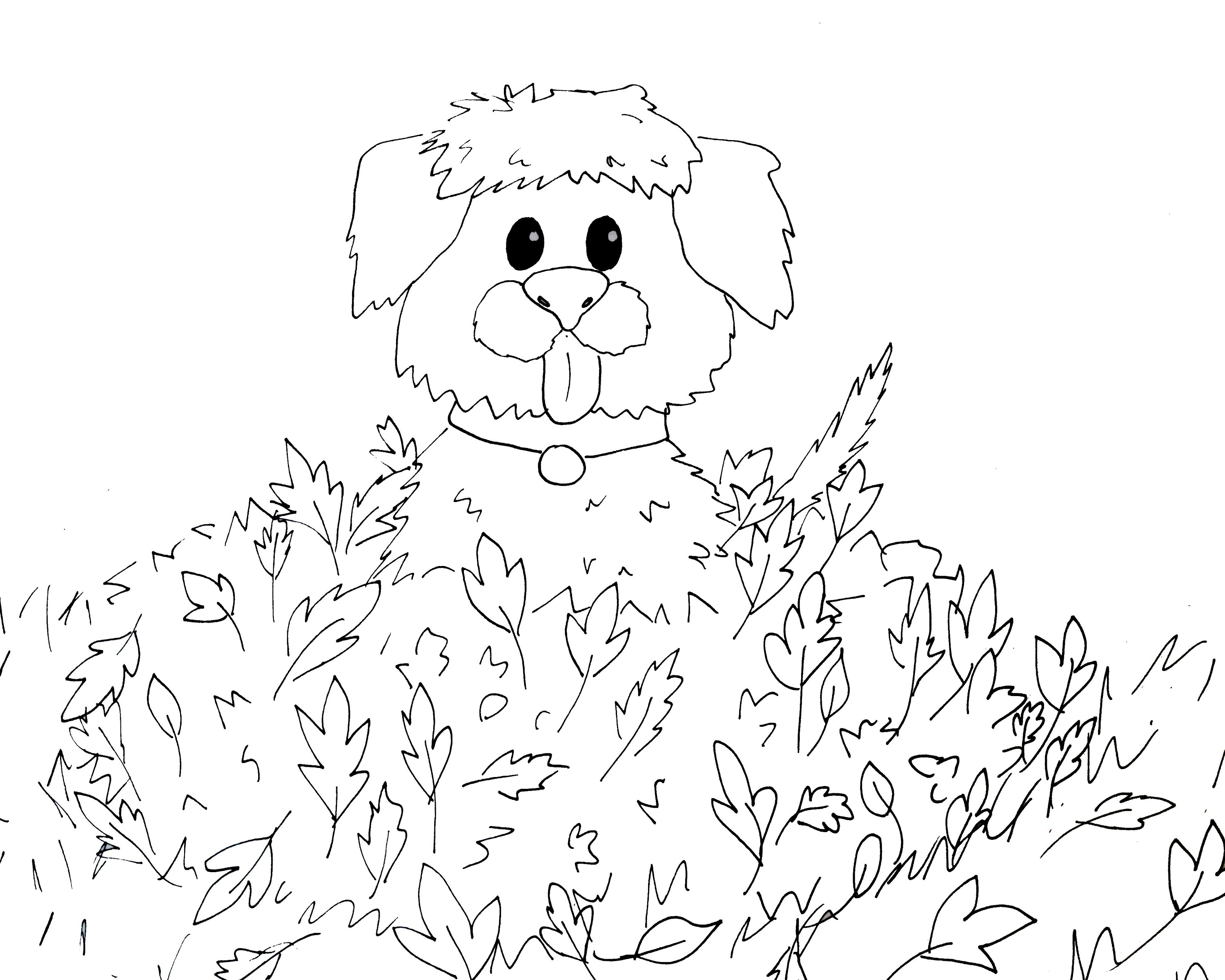 fall coloring sheets cartoon