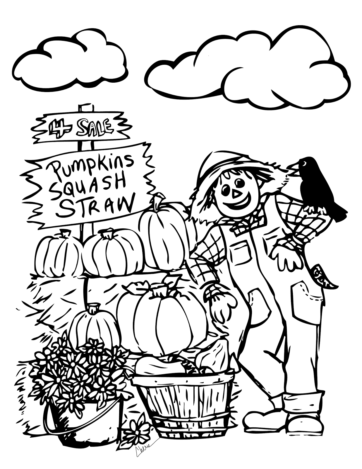Fall coloring sheets printable activity shelter for Printable coloring pages for kids fall
