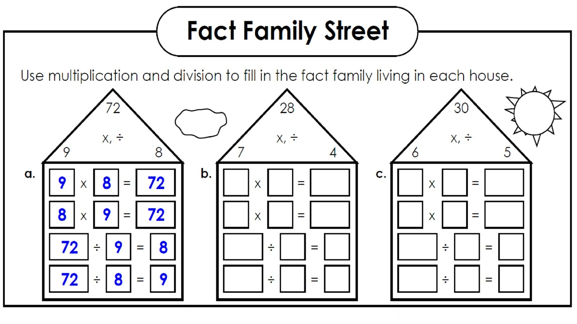 family facts math new