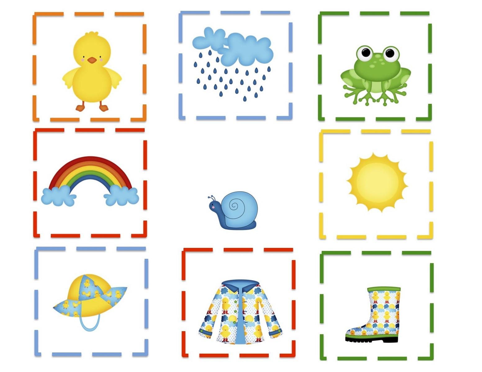 free preschool printables colorful