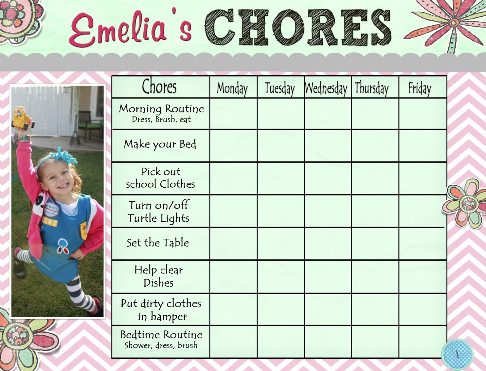 Free Printable Chore Charts For Kids Activity Shelter
