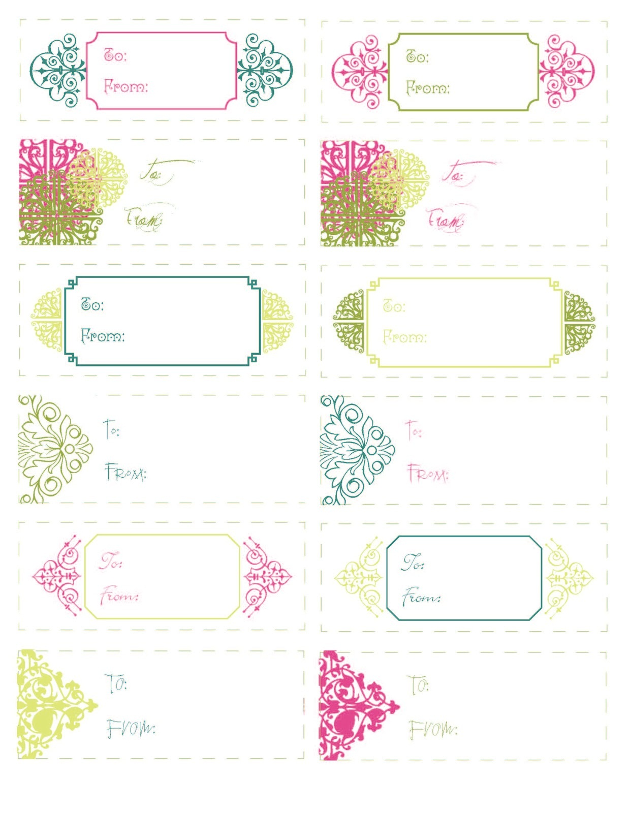 free printable gift tags beautiful