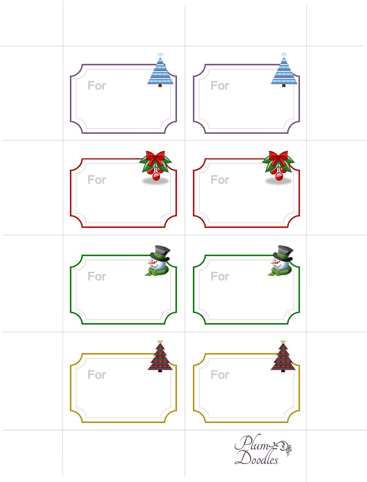 free printable gift tags new
