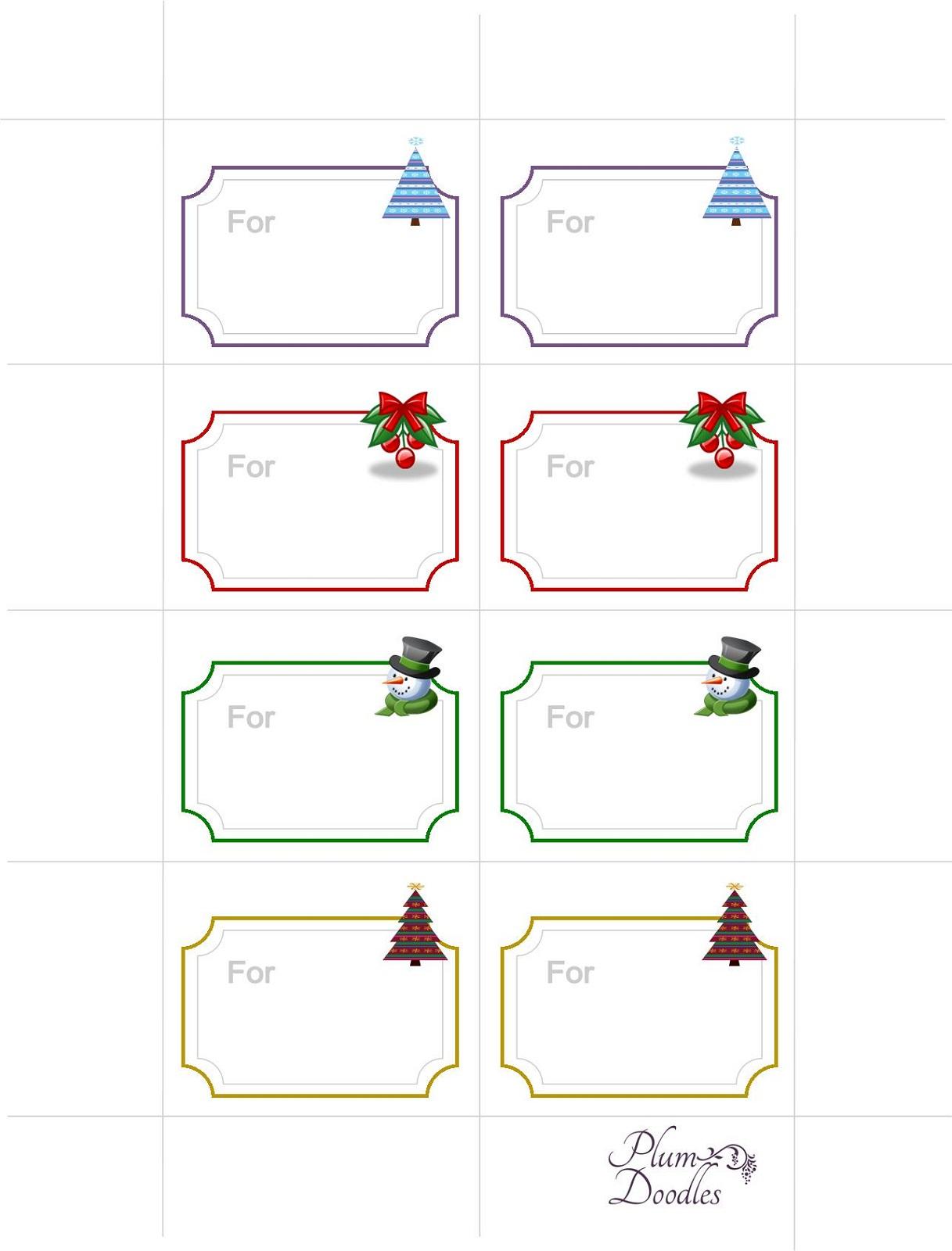 free printable gift tags new