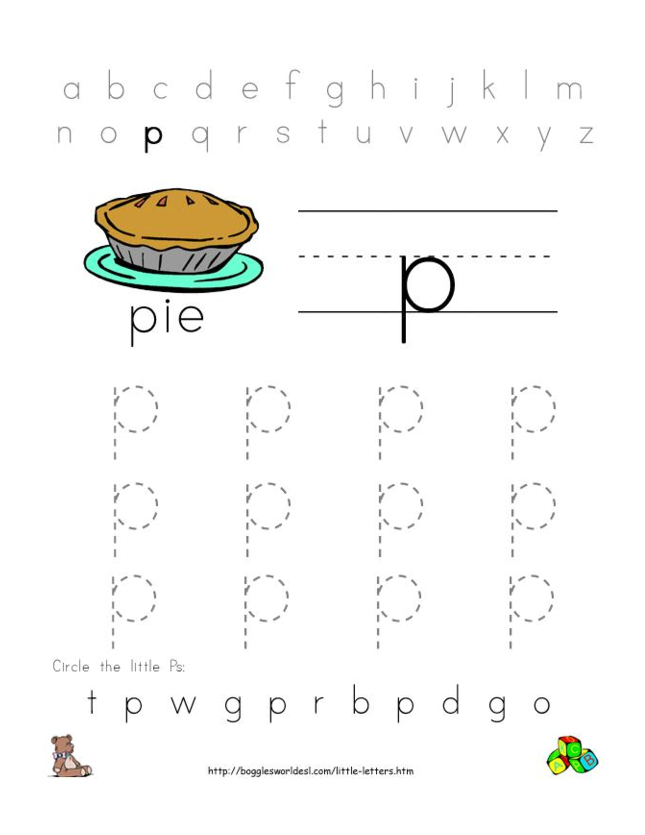 Free worksheets for preschool