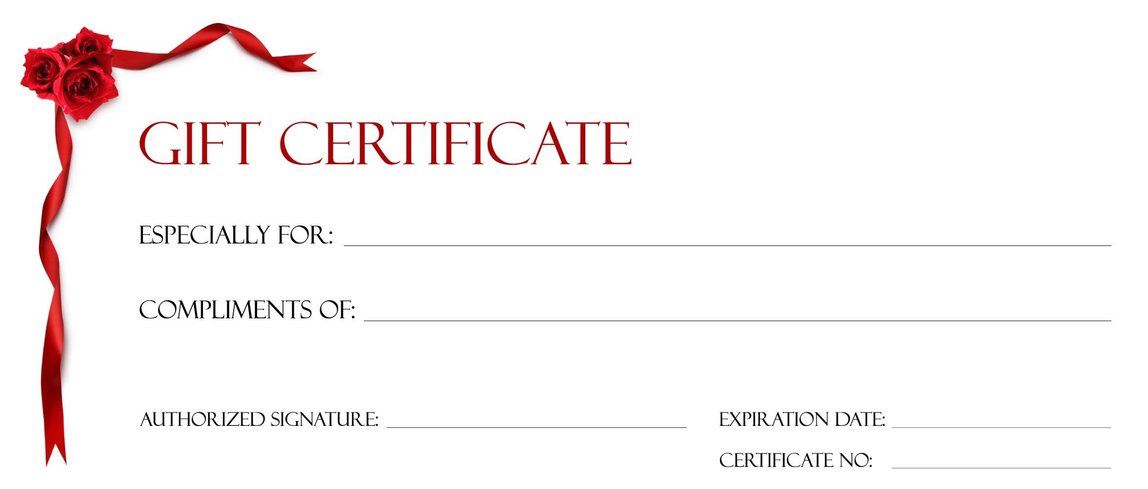 gift certificate template design