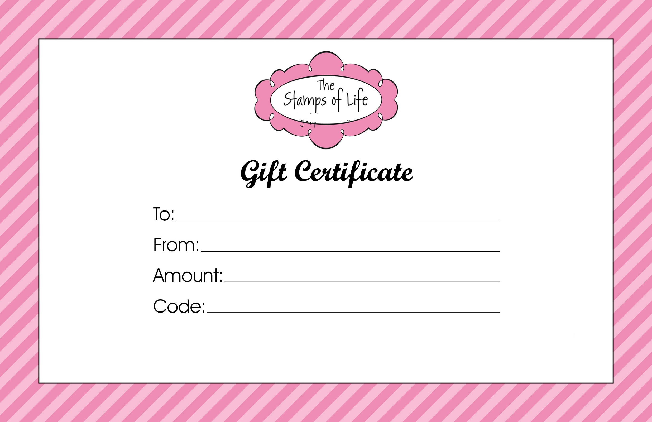 gift certificate template for girls