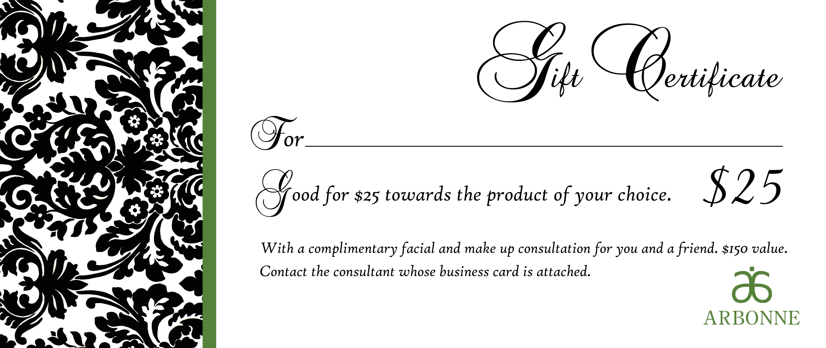 gift certificate template from company