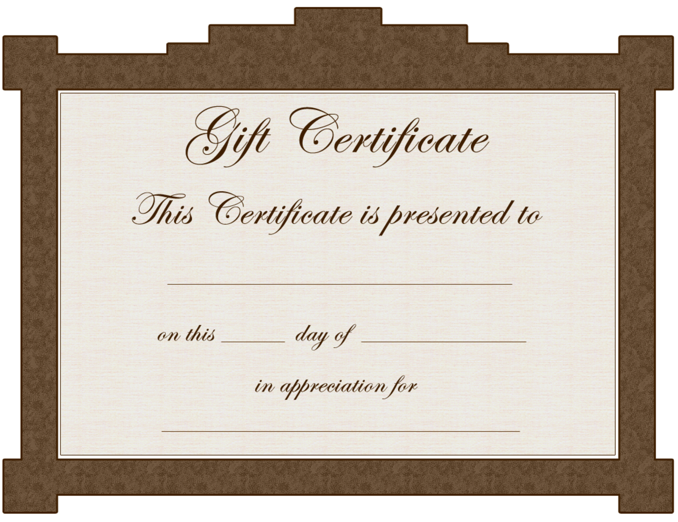 Gift Certificate Word Template Free certificate of achievement – Gift Card Templates Free