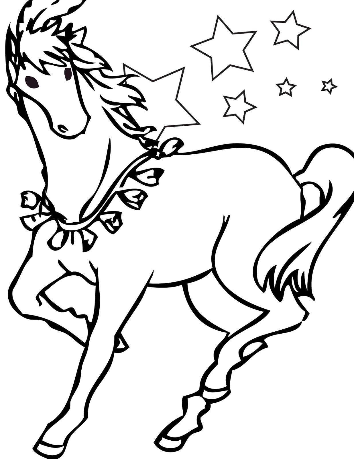 horse color sheet best