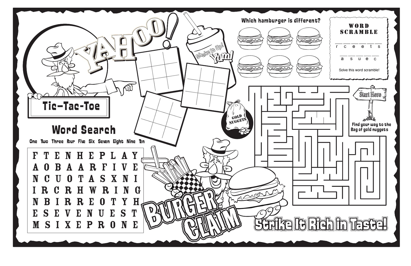 graphic about Printable Kid Activity known as Little ones Game Sheets Printable Recreation Shelter