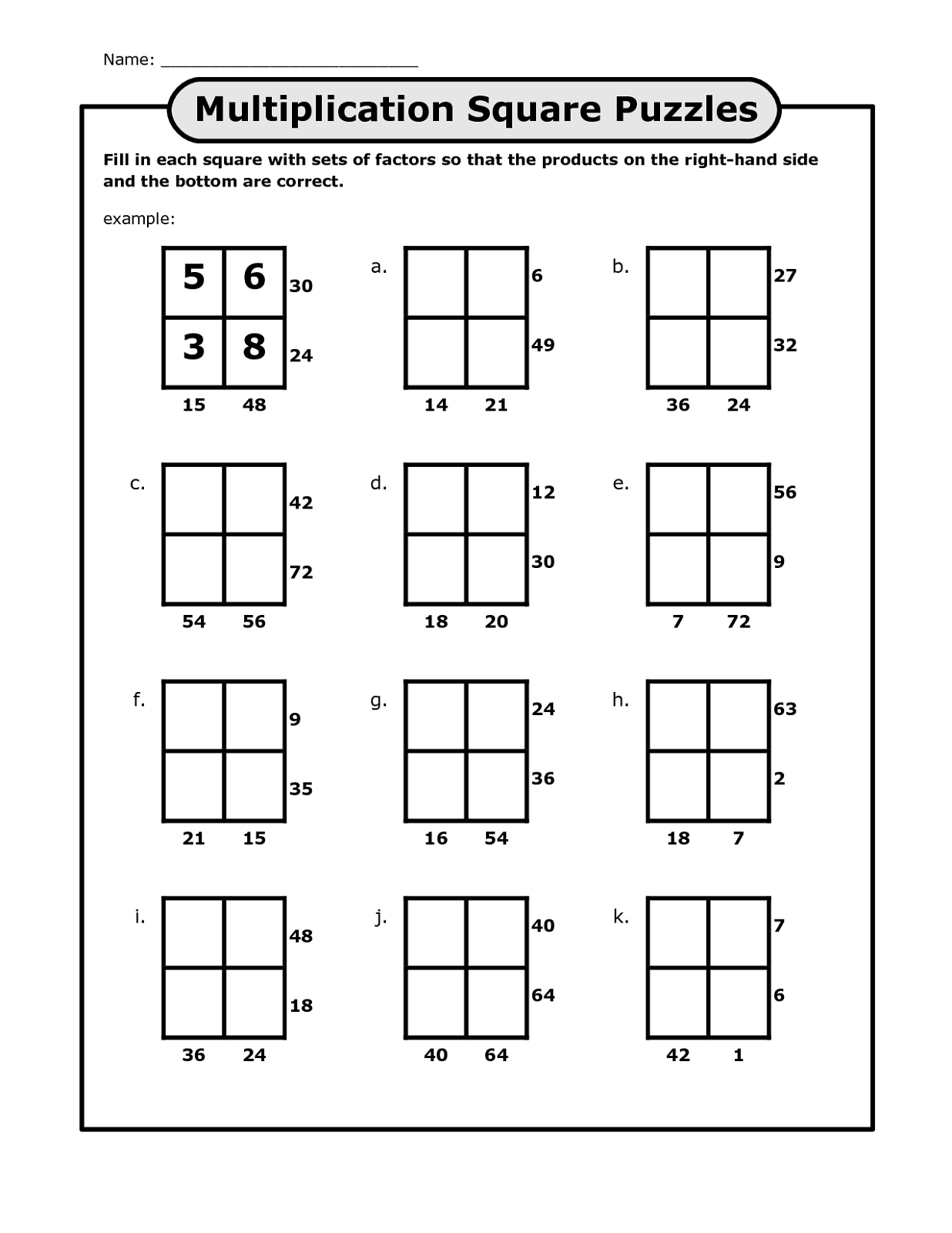 math puzzles printable for kids