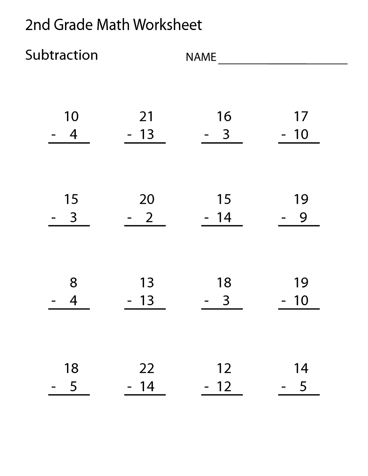 Math Worksheets for Grade 1 – Grade 1 Math Worksheets