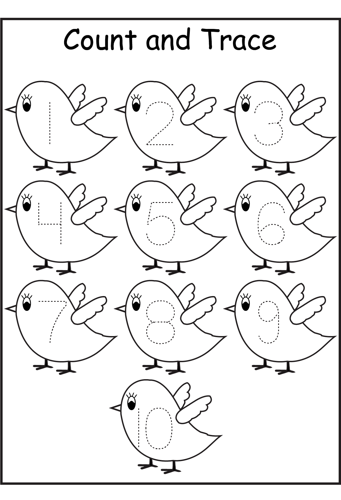 tracing coloring pages - photo#27