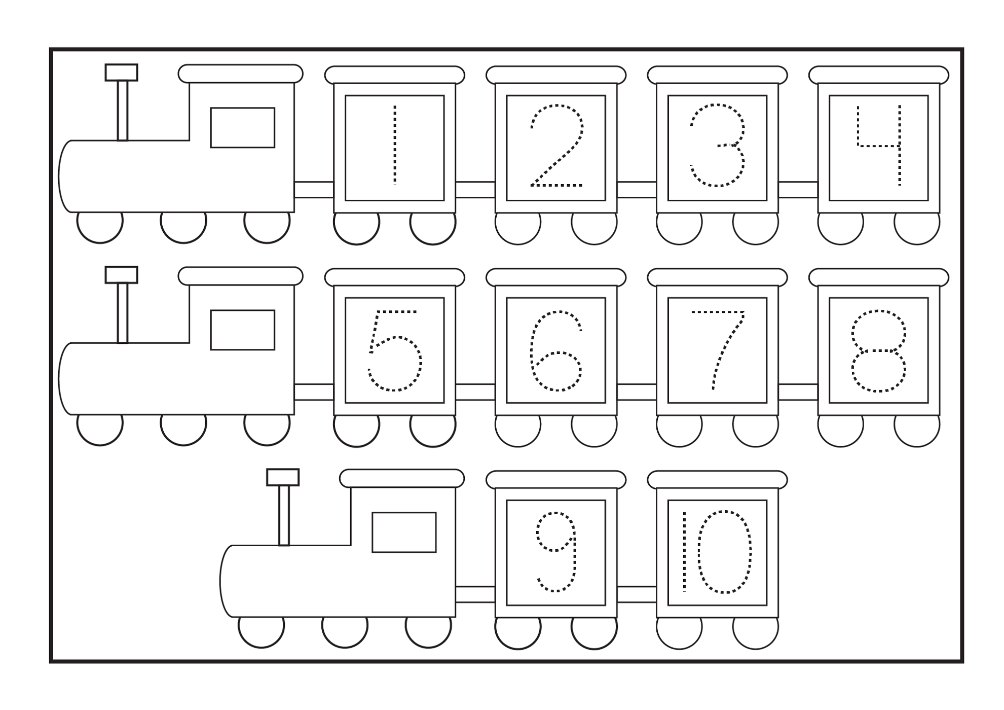 Free Printable Tracing Numbers Worksheets For Preschoolers - Deployday
