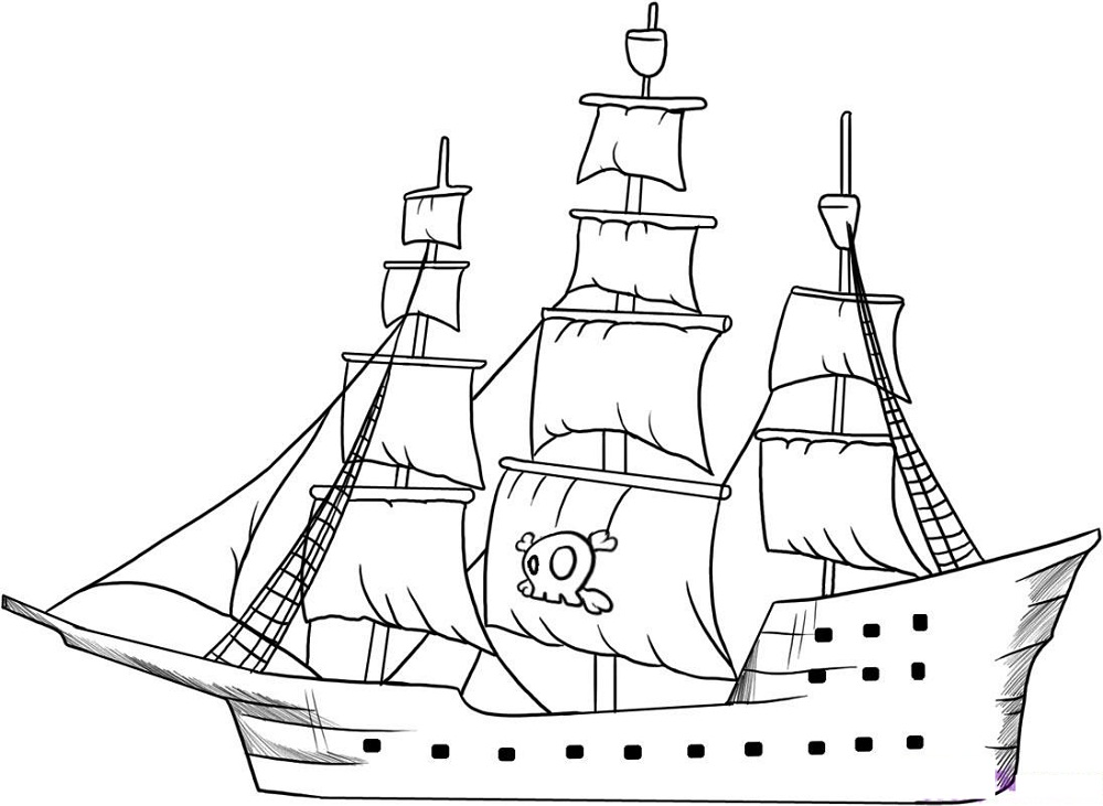 pirate ship pictures for kids draw