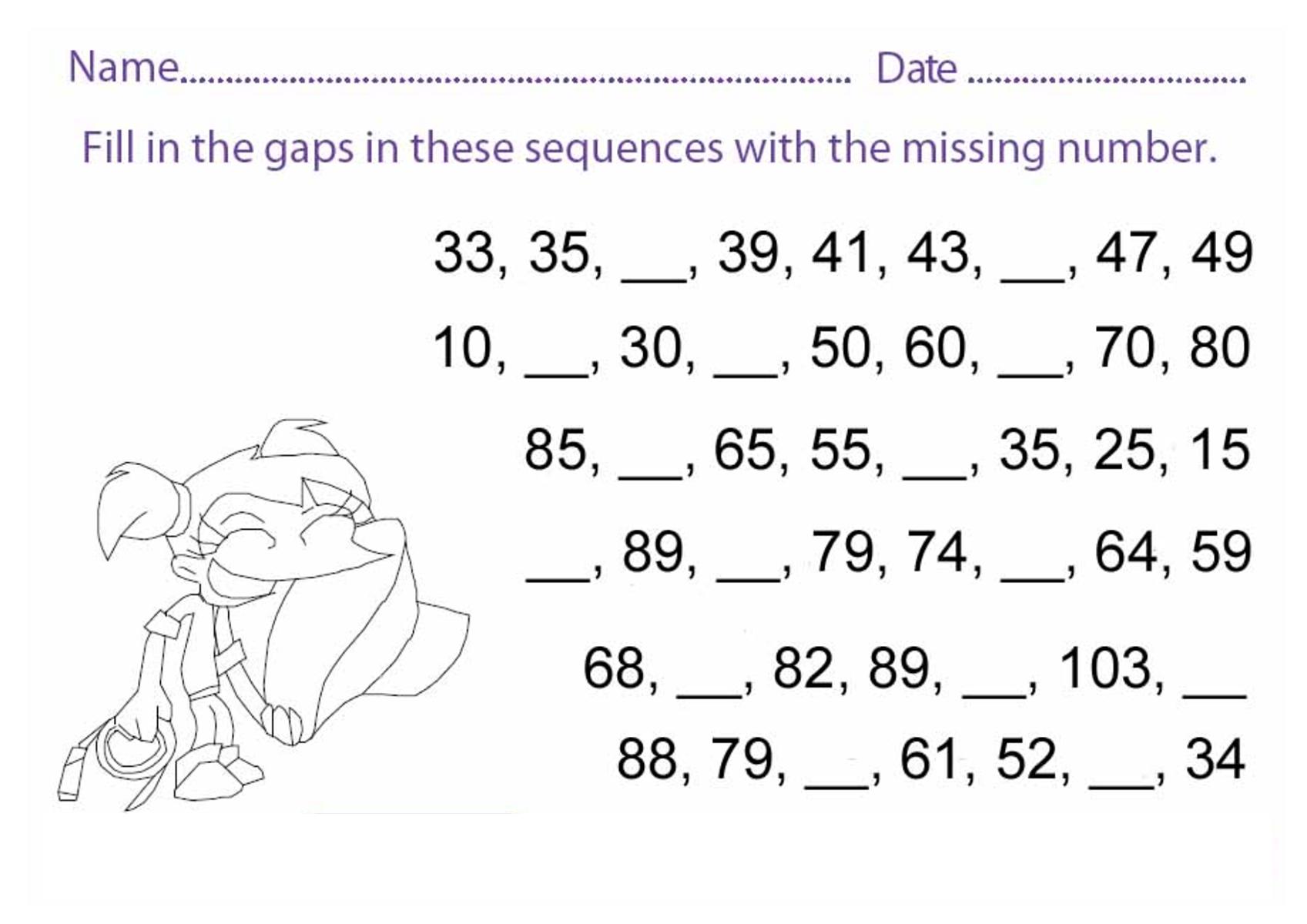printable math games counting