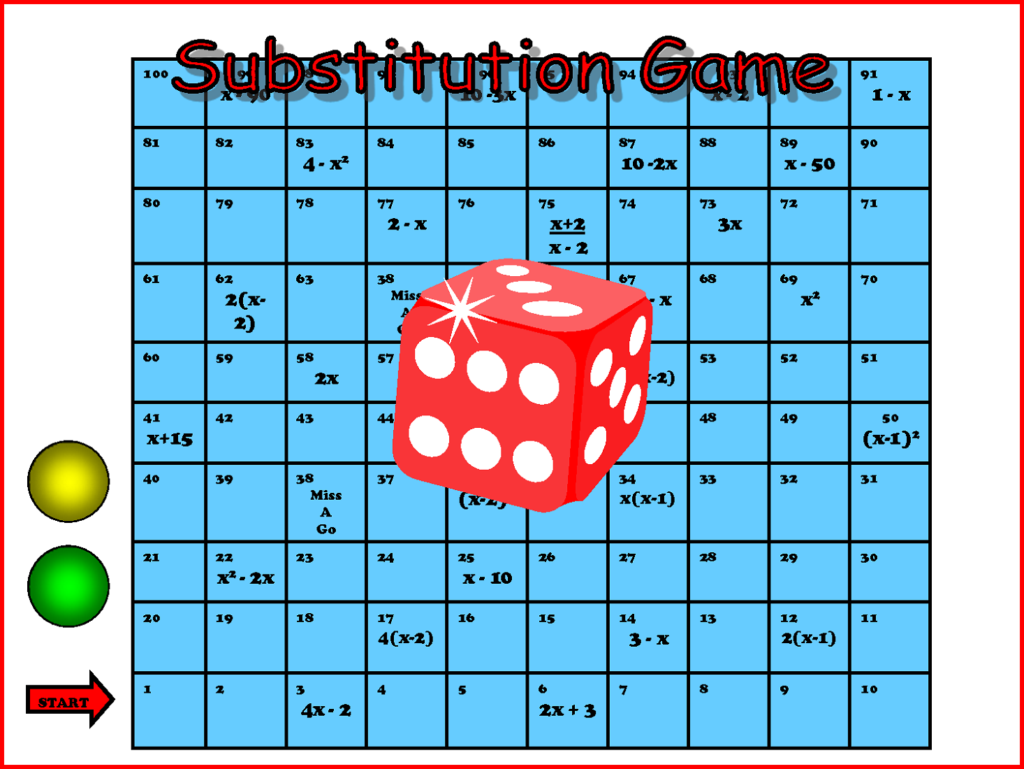 printable math games substitution theme