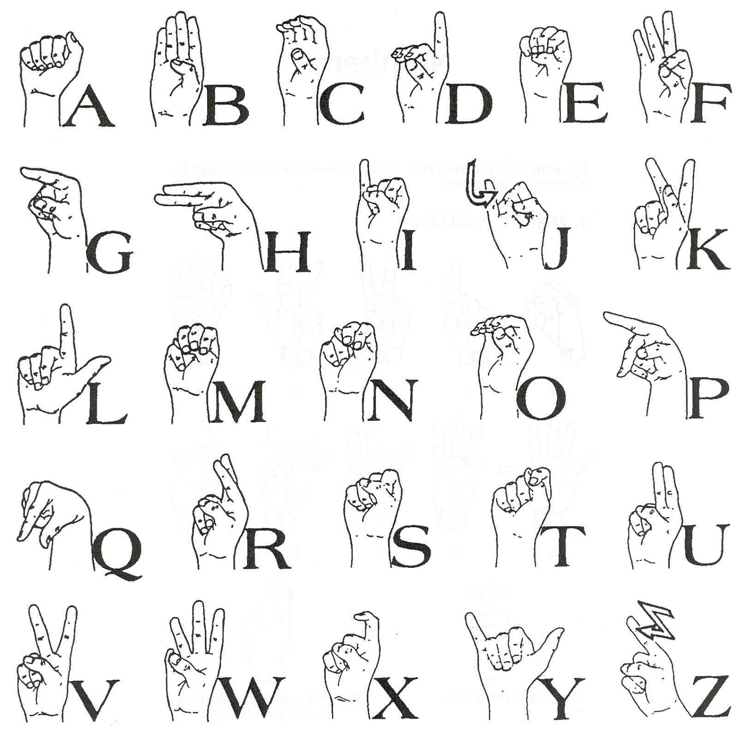 sign language chart simple