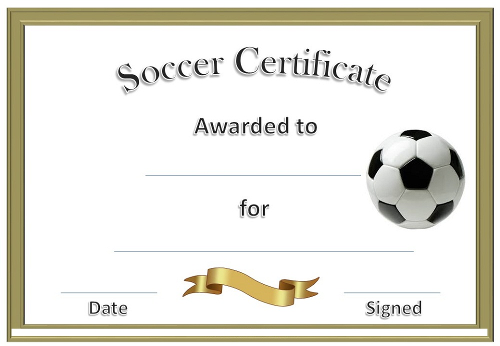 soccer award certificates