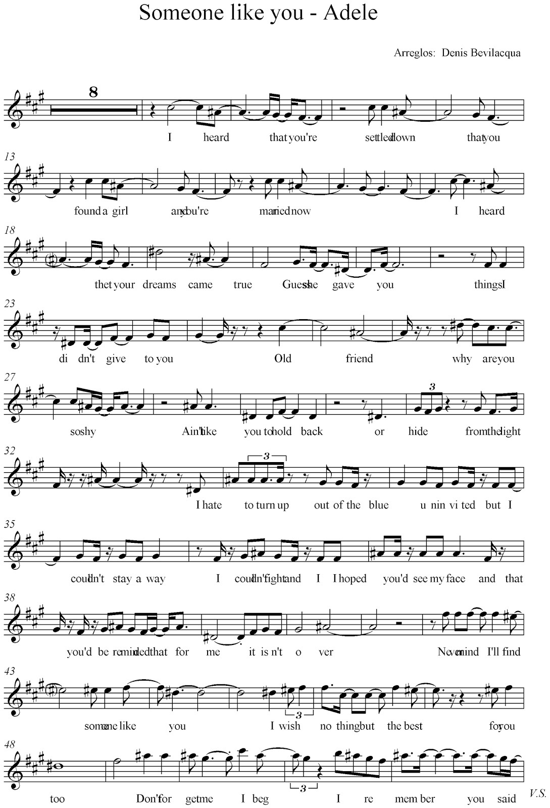 someone like you sheet music best
