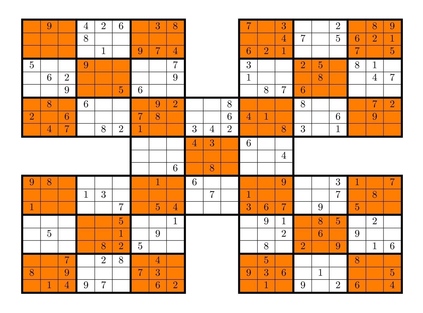 graphic about Mega Sudoku Printable known as Sudoku Higher Fives Sport Shelter