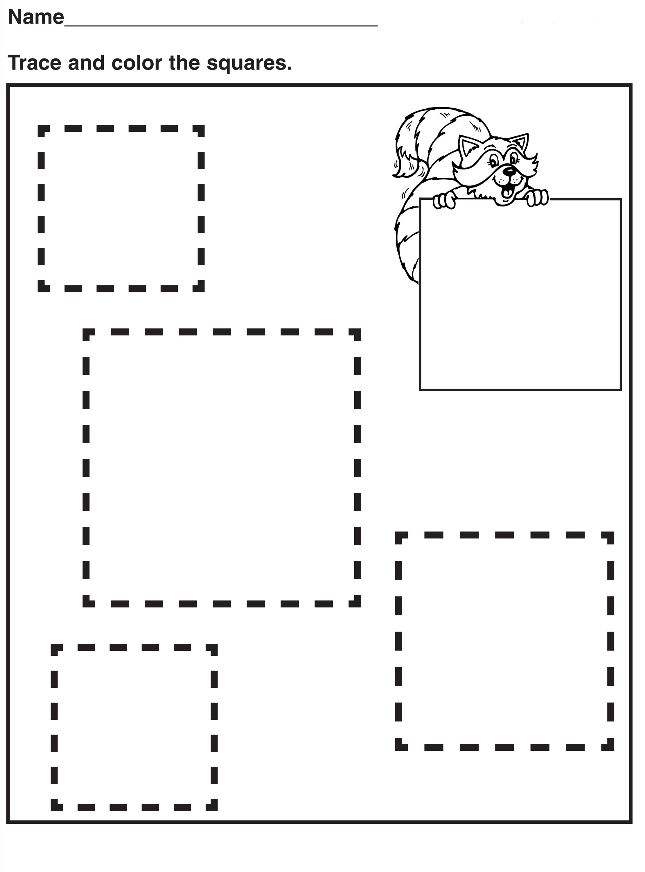 Tracing Pages for Preschool | Activity Shelter