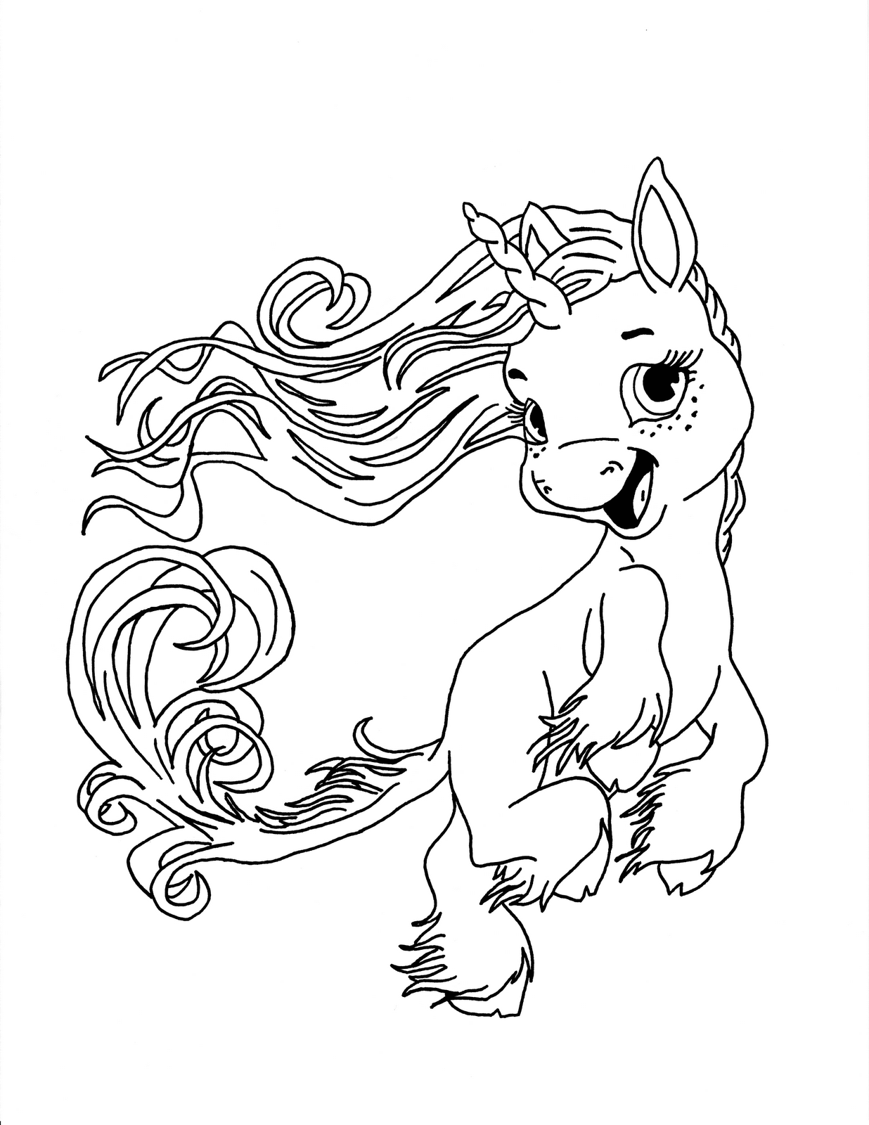 Baby Unicorn Coloring Pages Printable for Kids Pictures ... | 1600x1236