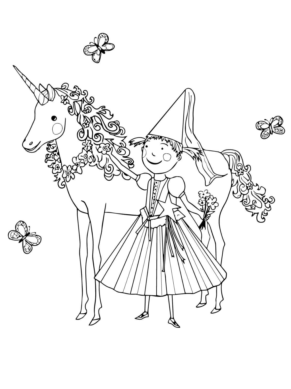 unicorn color page best