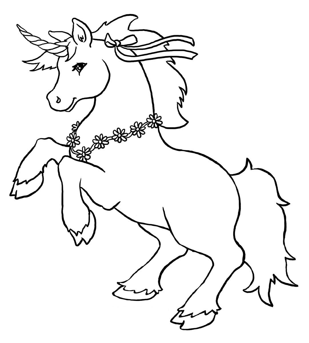 unicorn color page cute