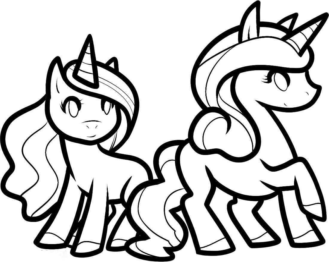 unicorn color page fot kids