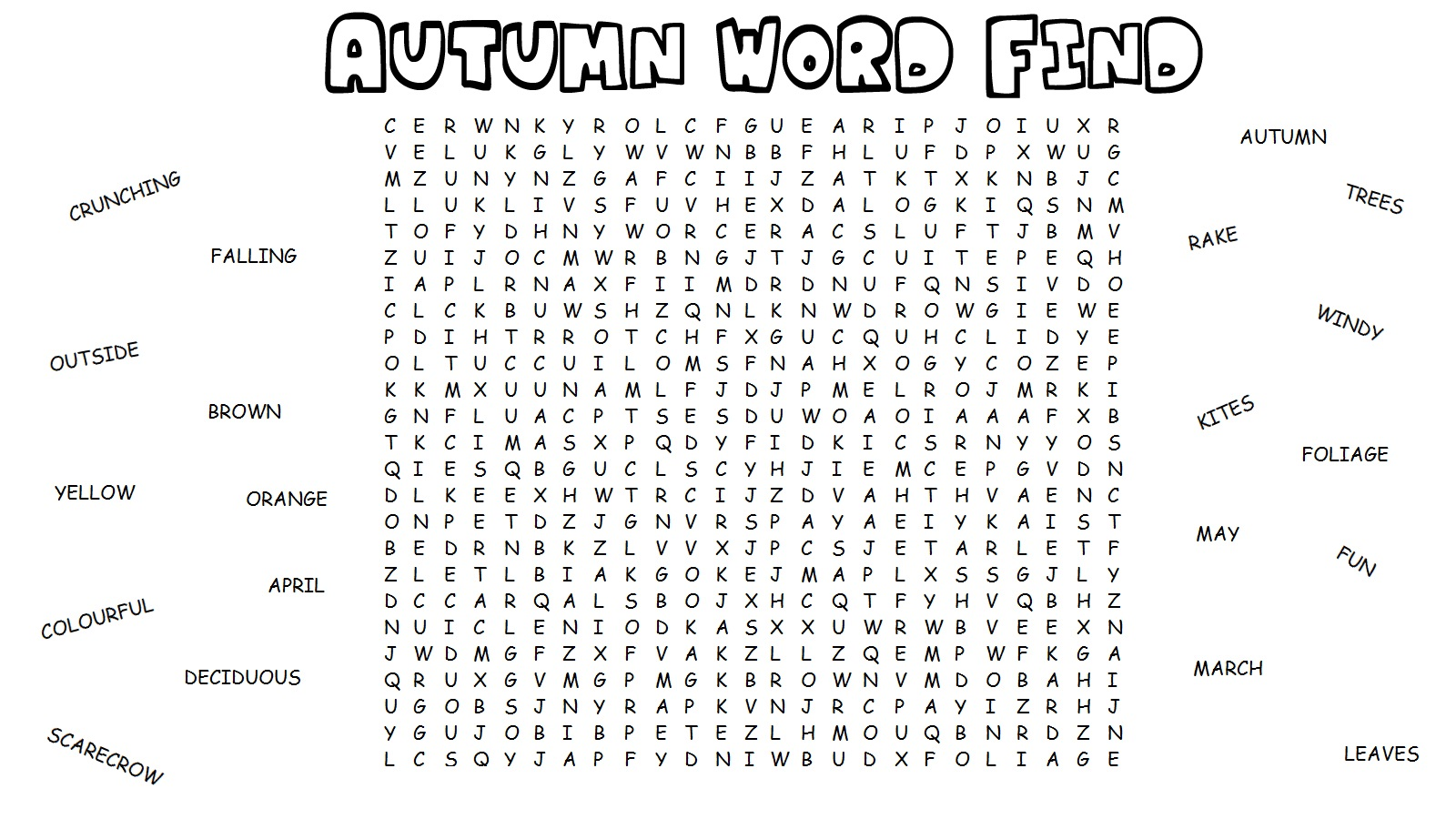 Word Search for Kids | Activity Shelter