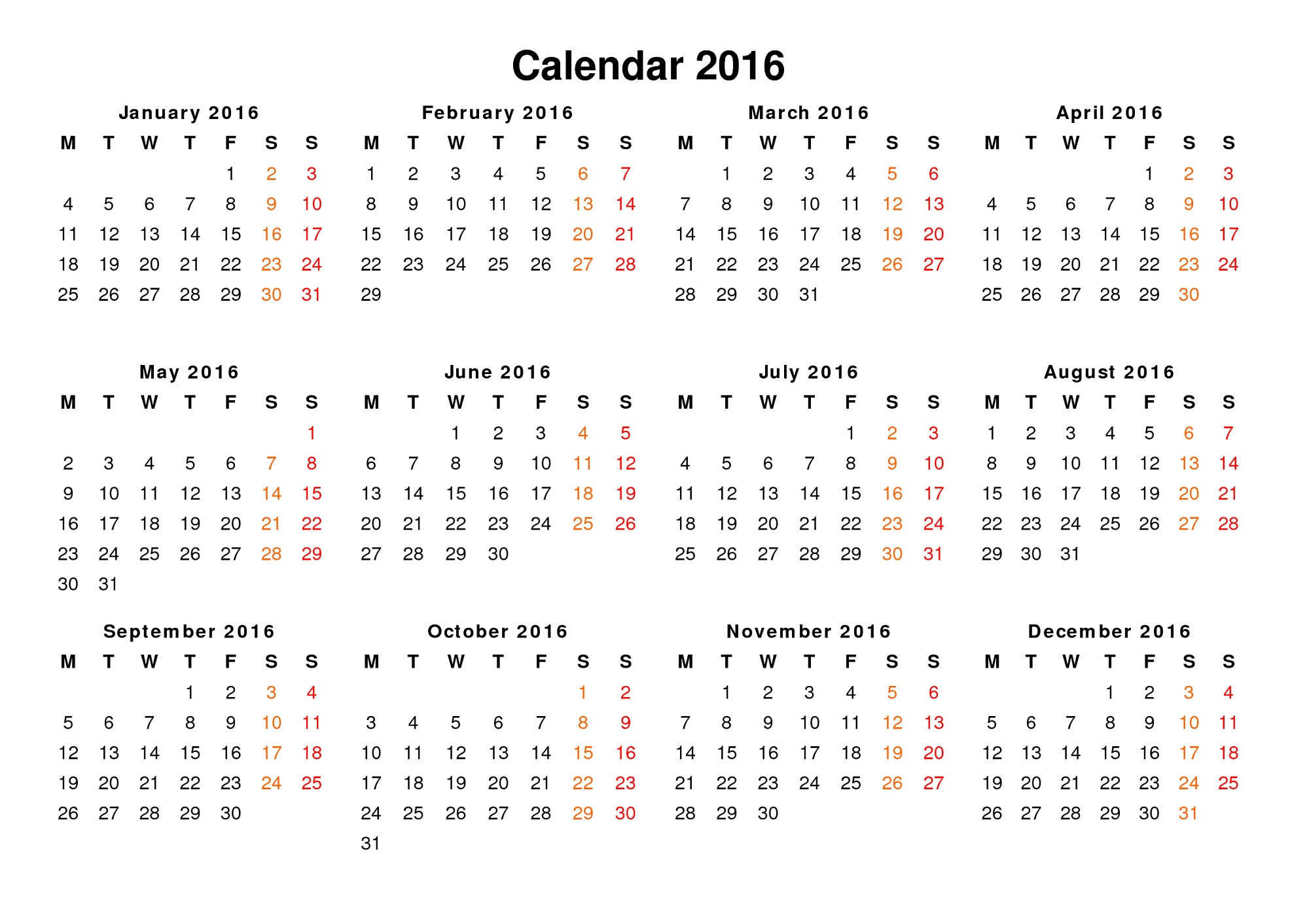 Calendar By Year : Yearly calendar printable activity shelter