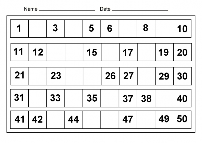 All Worksheets Counting To 50 Worksheets Printable Worksheets – Counting to 50 Worksheets