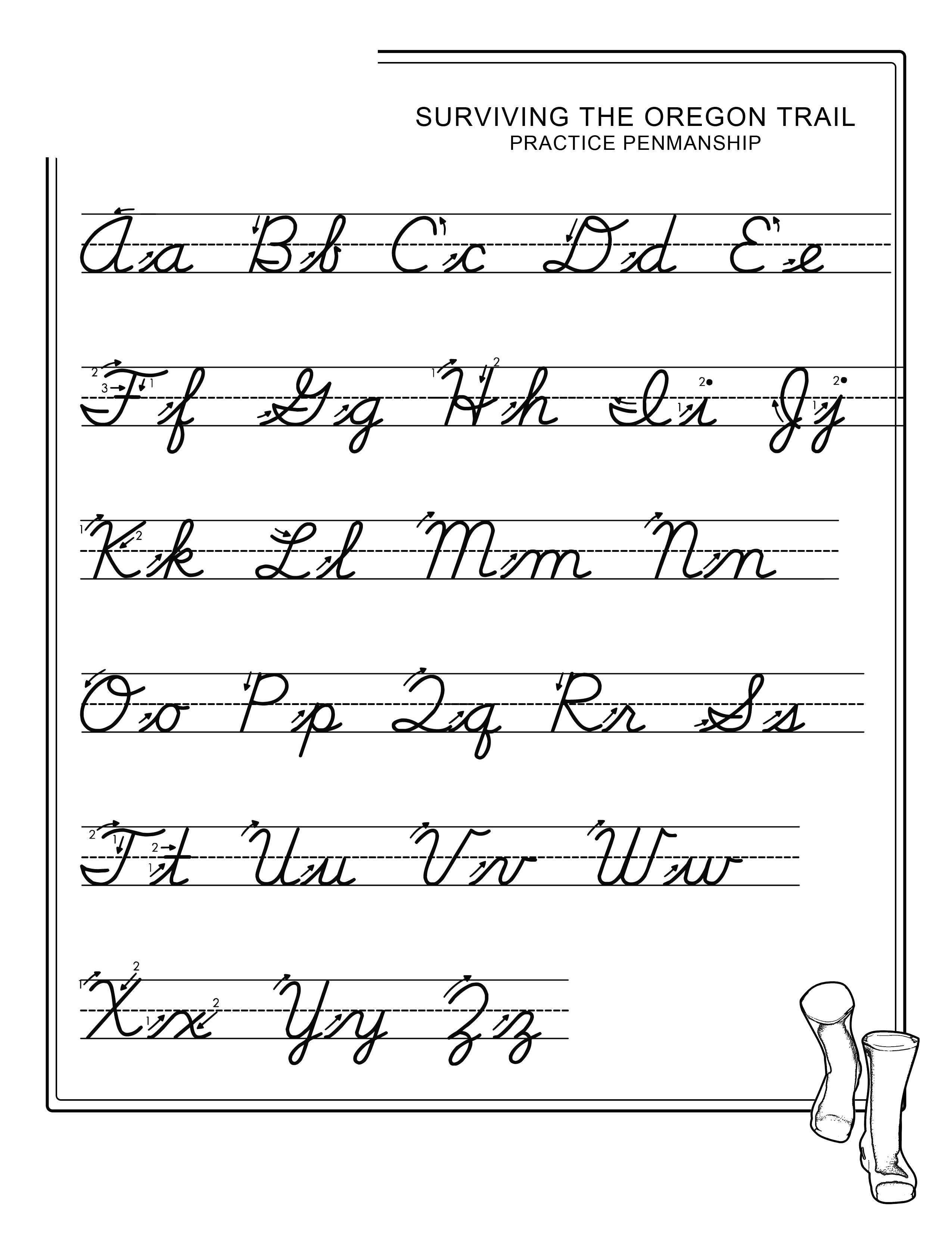 abc worksheets free cursive