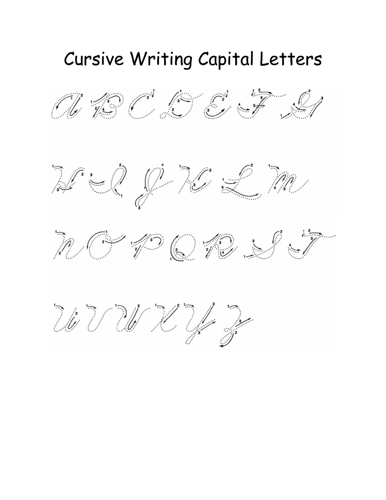 capital letters in cursive alphabet capital letters activity shelter 253