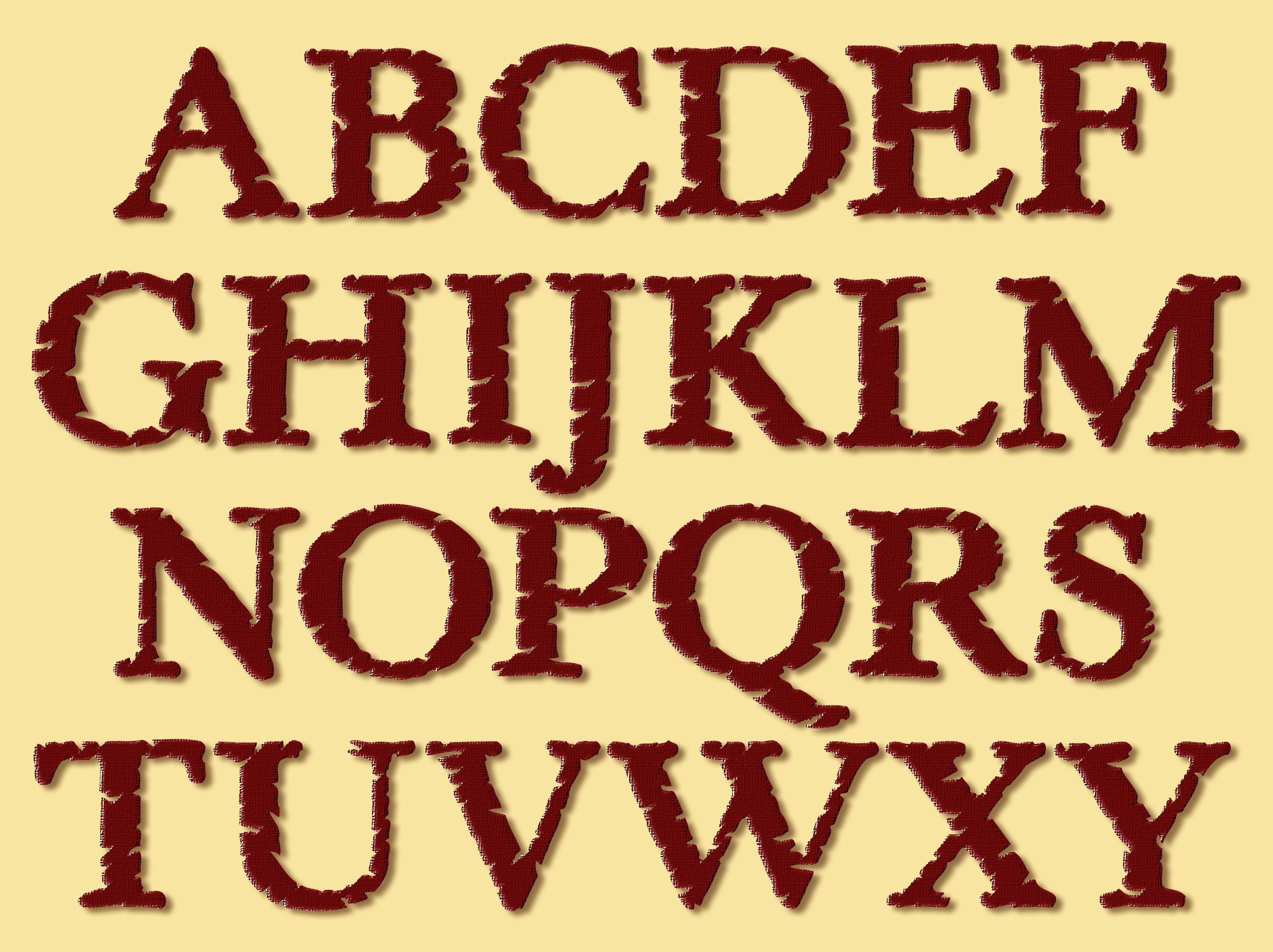 alphabet capital letters interesting