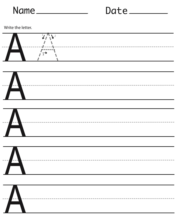 alphabet capital letters letter A