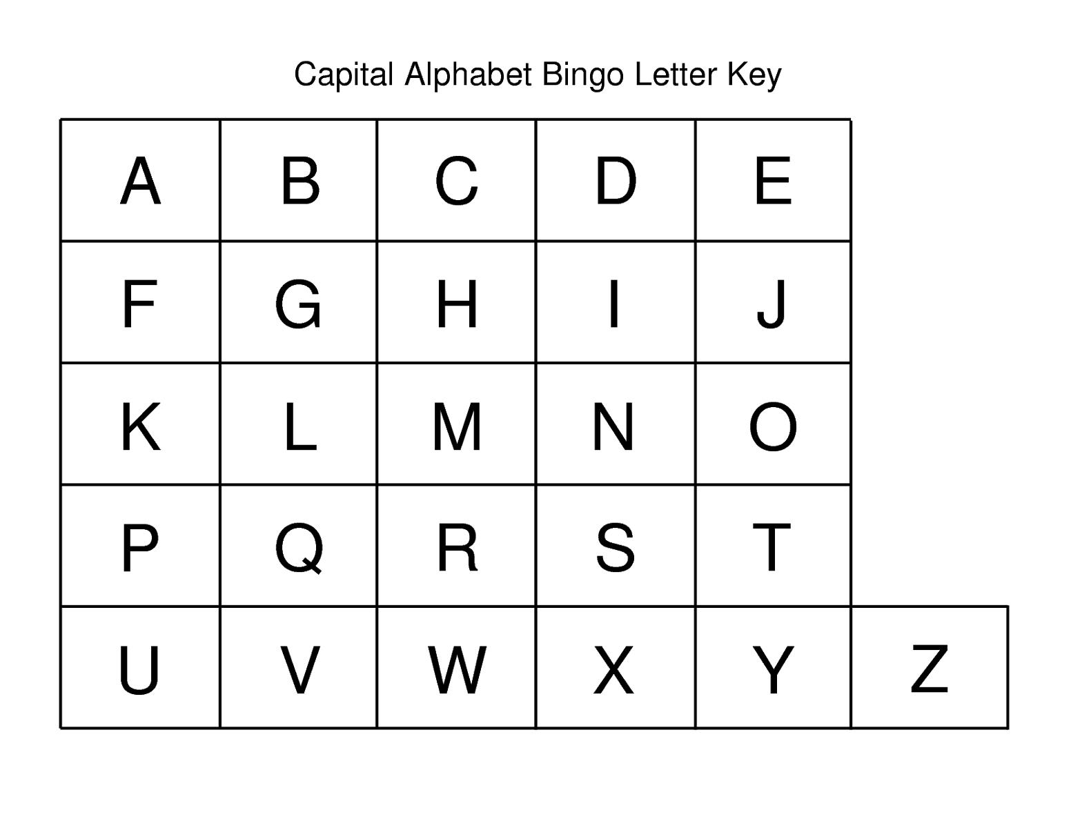alphabet capital letters simple