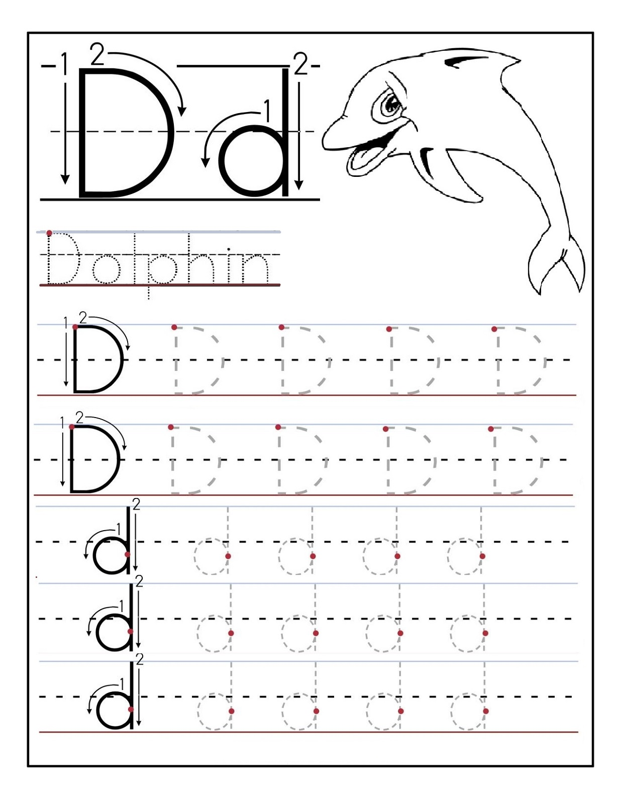 Printables Alphabets Worksheets alphabet worksheets free activity shelter dolphin