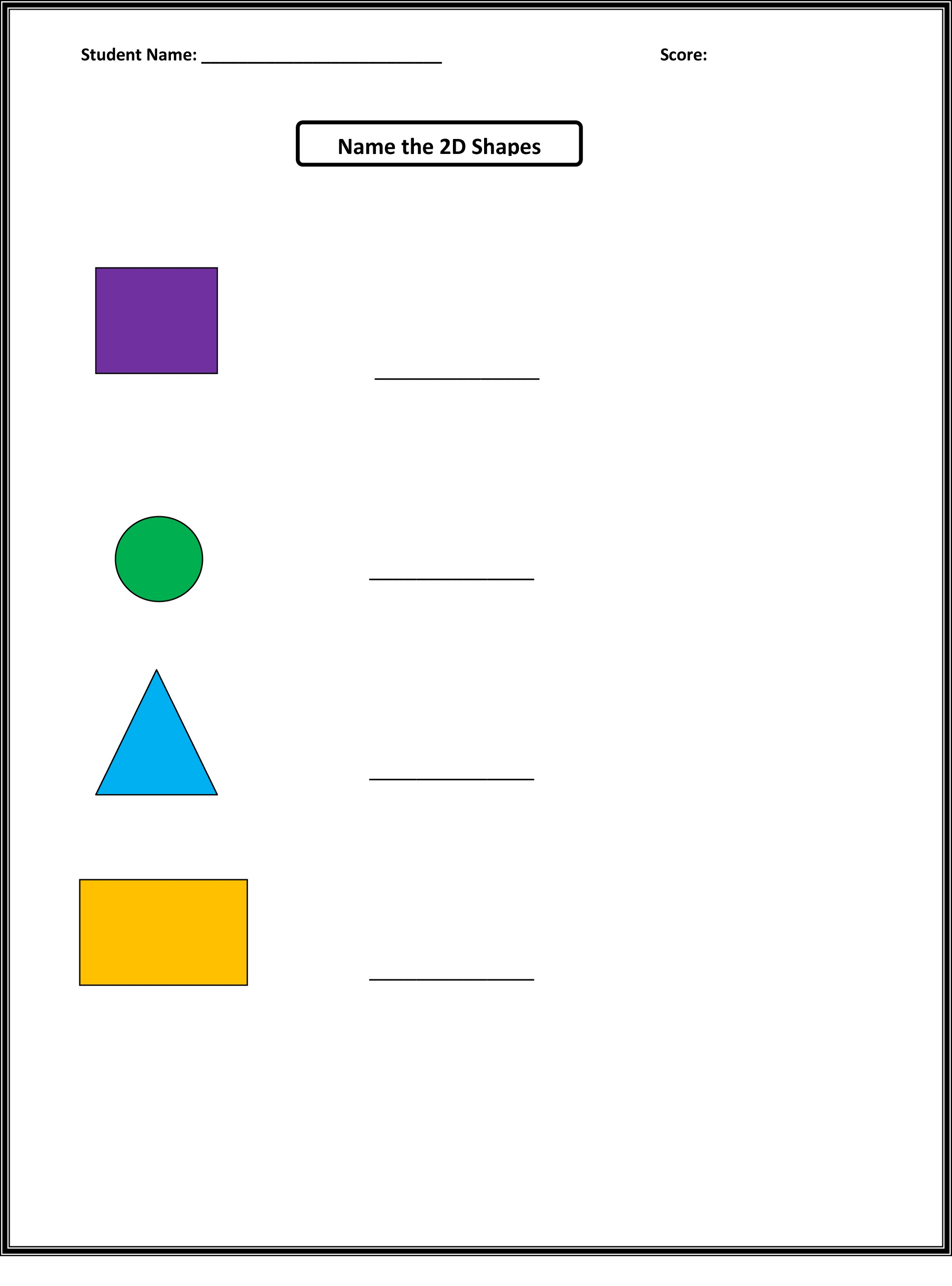basic shapes worksheets colorful