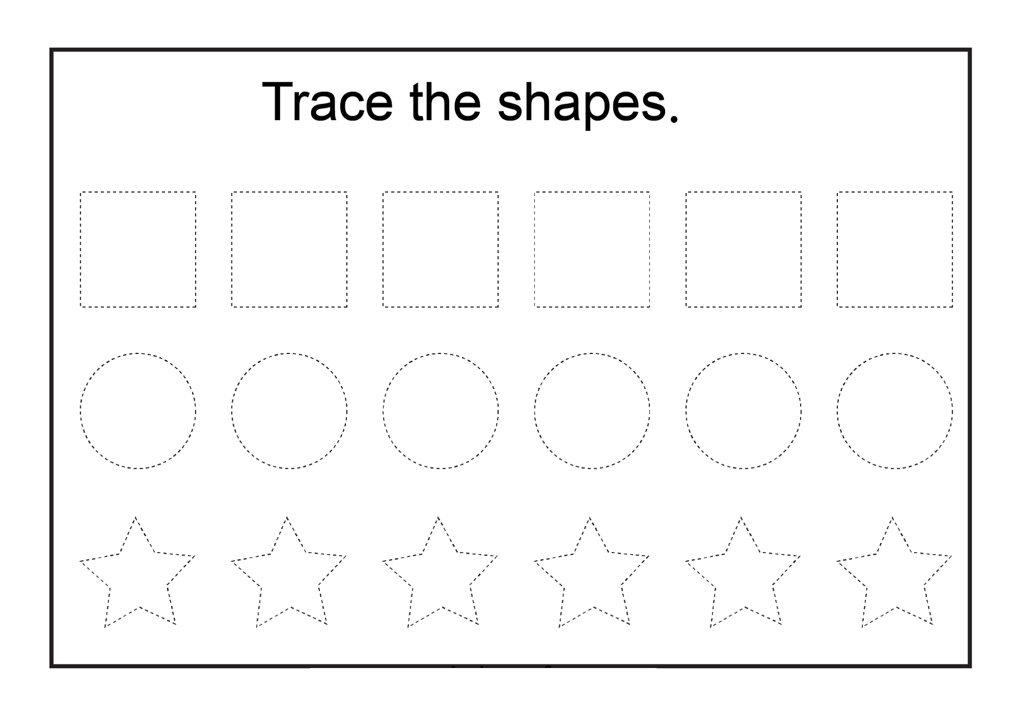 Worksheet Printable Basic Shapes Wosenly Free Worksheet – Free Shape Worksheets