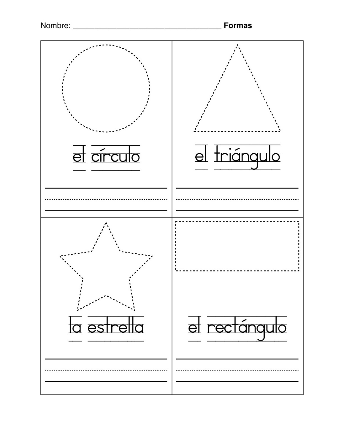 basic shapes worksheets for practice