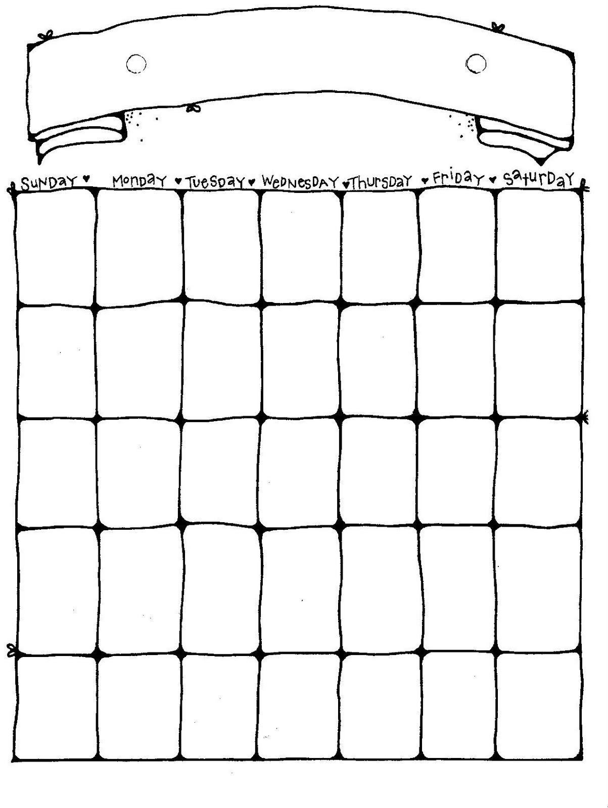 Printable Blank Calendar Pages | Activity Shelter