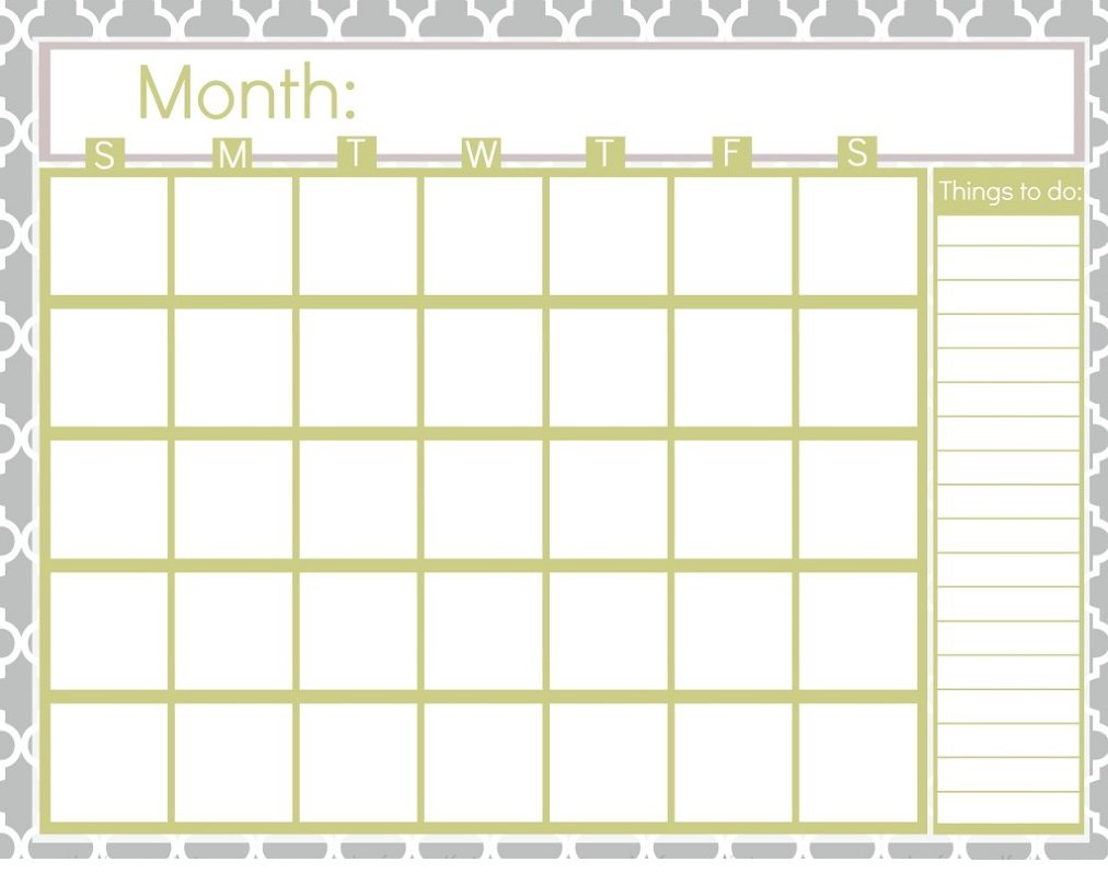 Month at A Glance Blank Calendar Lined - 2018 Calendar ...