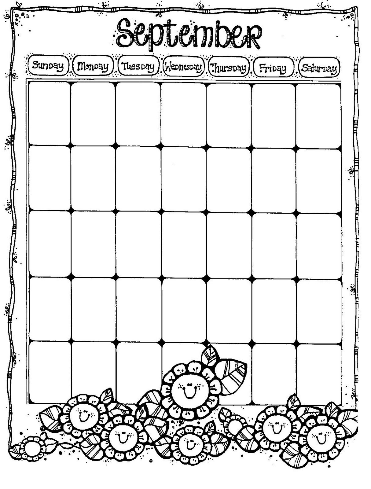 Calendar Pages : Printable blank calendar pages activity shelter